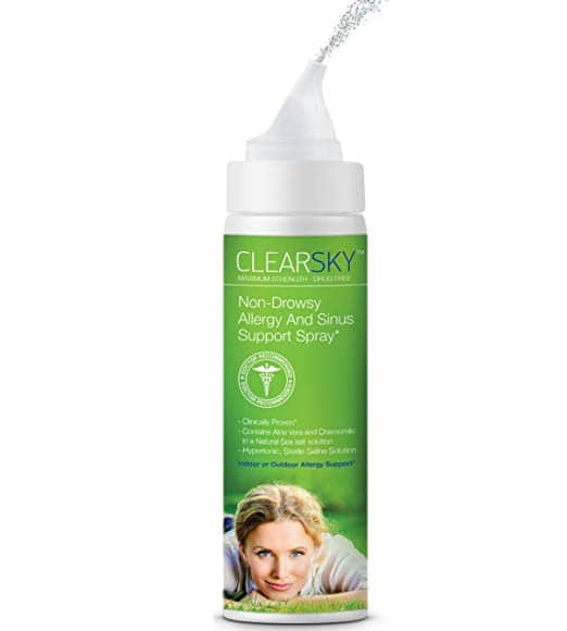 Clearsky Saline Nasal And Sinus Spray 24 Hour Natural Allergy Support $8.95
