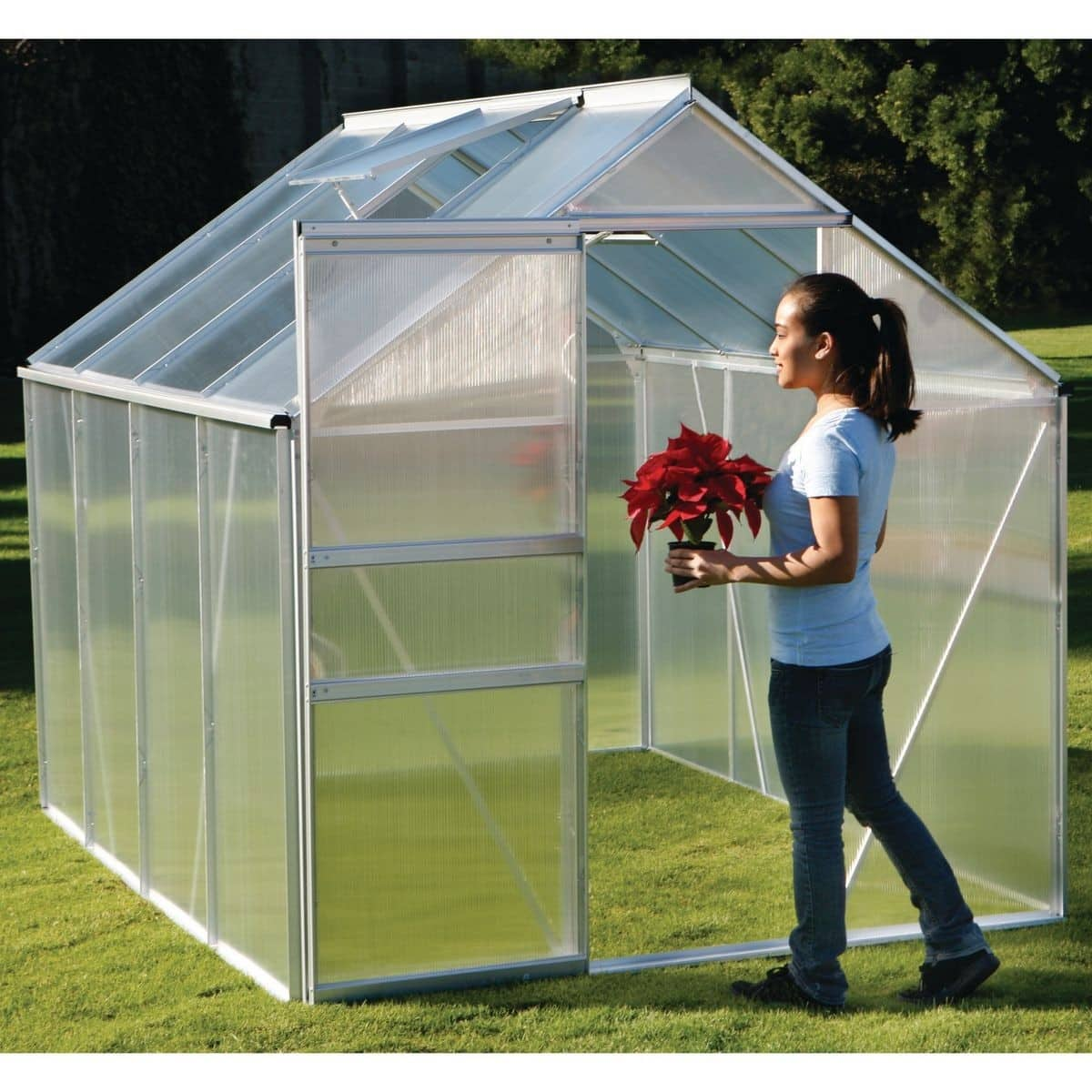 Harbor Freight ONE STOP GARDENS 6 Ft. X 8 Ft. Greenhouse $329.99 - $100 coupon for $229.99 before taxes