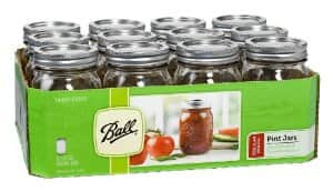 Ball Mason 16-Ounce Canning Jars, Pint, Regular, 12 Count (Regular Mouth) - $7.29 add on item