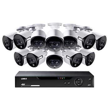 Lorex 16 Channel 4K UHD DVR Surveillance System with 3TB HDD and 12 4K Active Deterrence Cameras $799