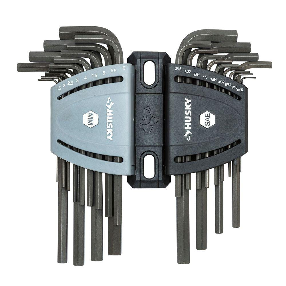 Husky SAE/Metric Long Arm Hex Key Set (26-Piece) for $9.88 @Homedepot