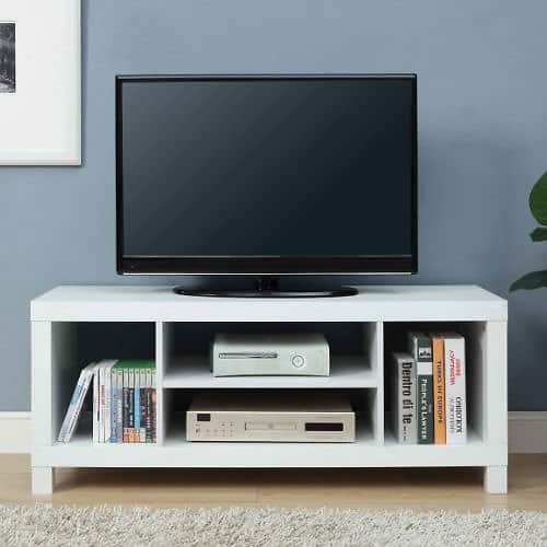 "Mainstays TV Stand for TVs up to 42"", Multiple Colors for $29.00 @walmart"