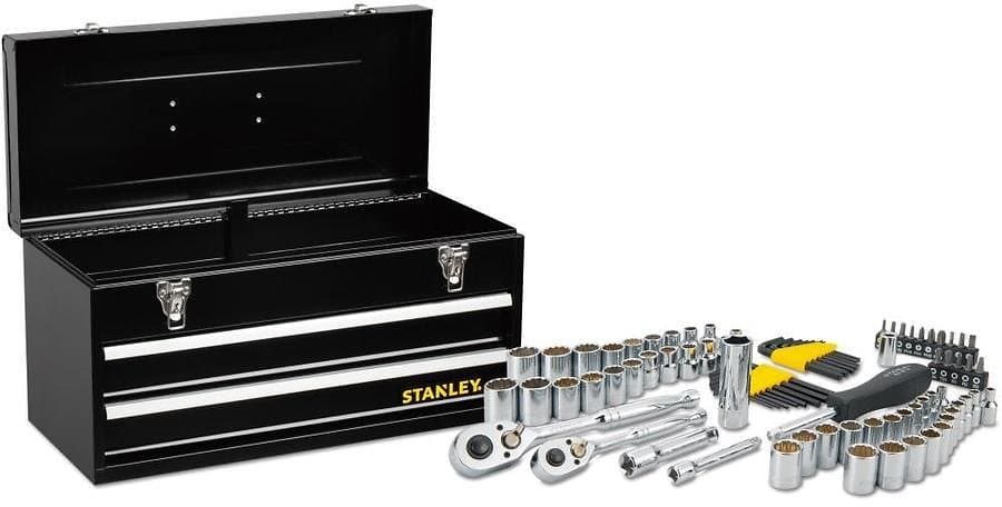 Stanley 81-Piece Standard (SAE) and Metric Mechanic's Tool Set with Tool Chest for $39.98 @Lowe's