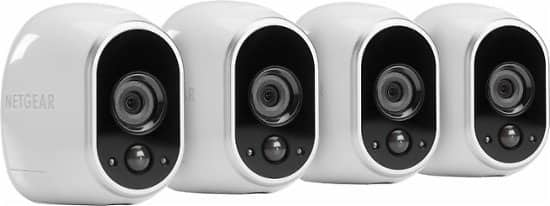 NETGEAR - Arlo Smart Home Indoor/Outdoor Wireless High-Definition Security Cameras (4-Pack) - White/Black for $299.99  @walmart