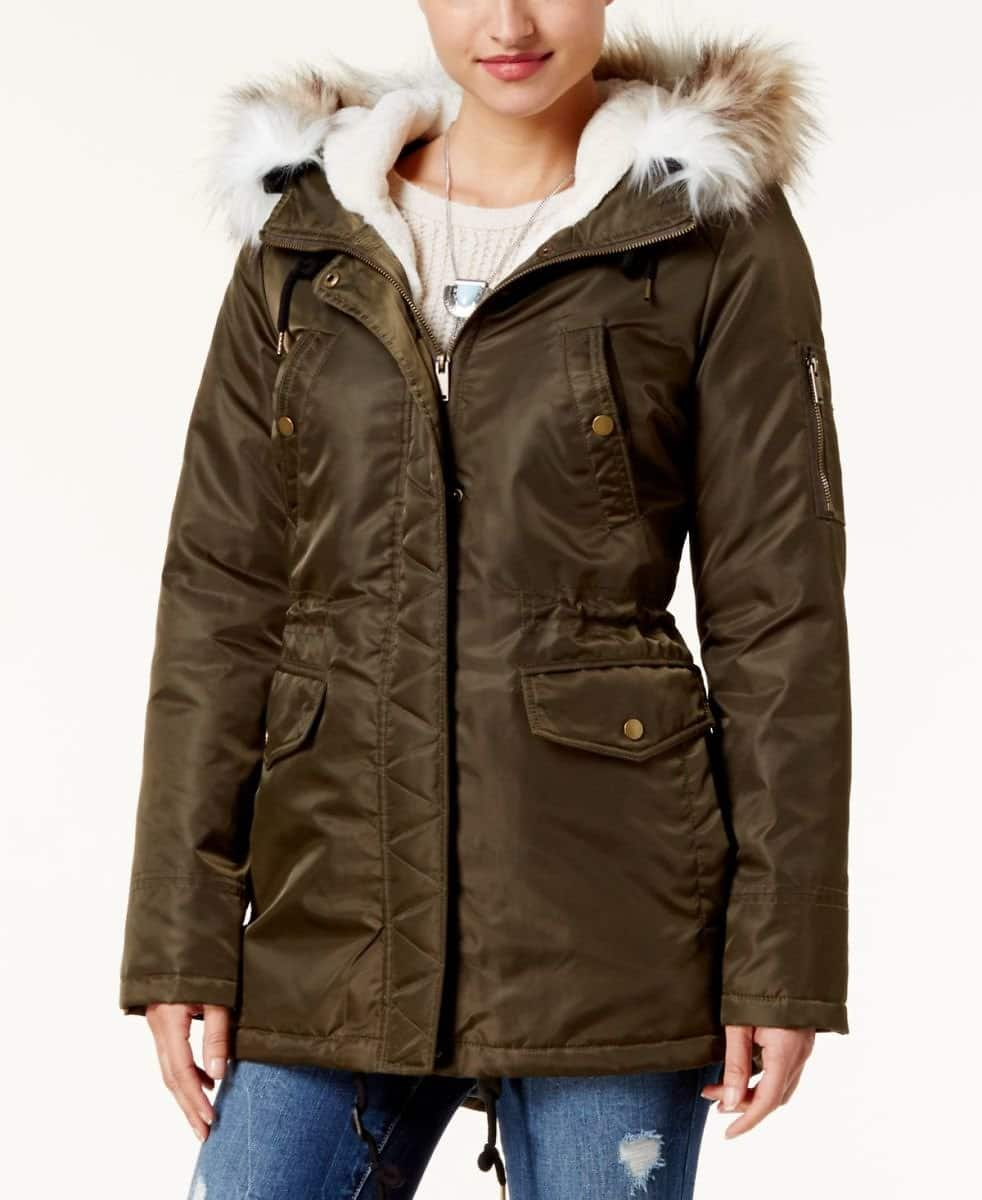 Juniors' American Rag Hooded Parka (3 Colors) $39.99 @Macy's