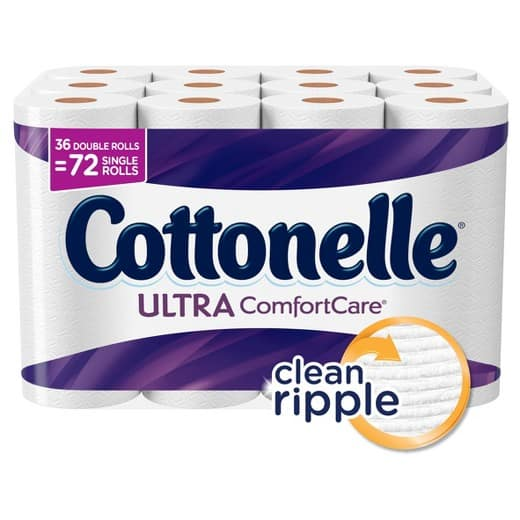 Cottonelle Ultra Comfort Care Toilet Paper - 36 Double Rolls 3 for $38.69