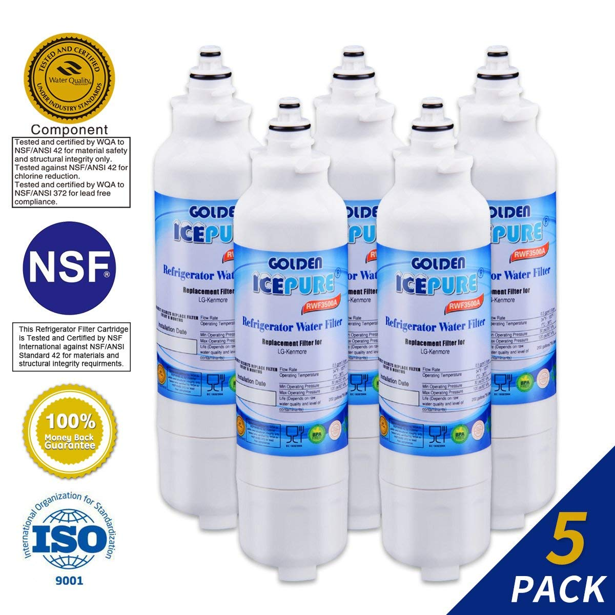 Golden Icepure LT800P Refrigerator Water Filter Replacement for LG for  $14.79  @ Amazon