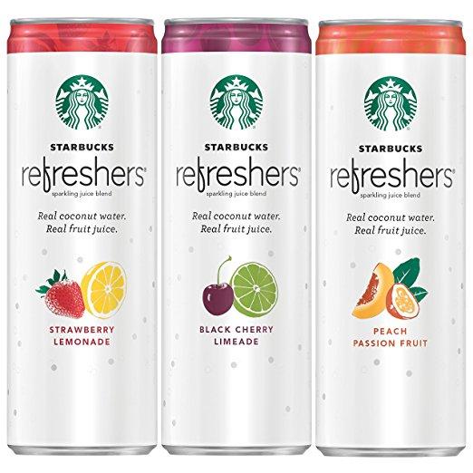 12 pack Starbucks Refreshers 3 Flavor Variety Pack $15.74