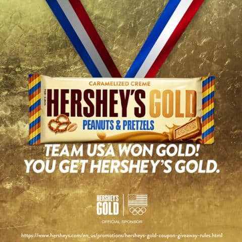 Hershey's Gold $1.50/1 coupon = FREE candy!