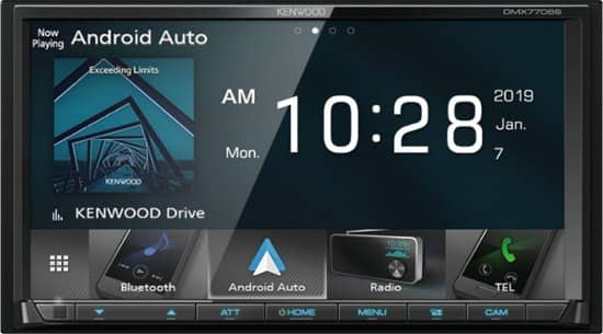 "Kenwood - 7""- Android Auto/Apple® CarPlay™ - Built-in Bluetooth - In-Dash Digital Media Receiver - Black $249.98 + tax Best Buy"