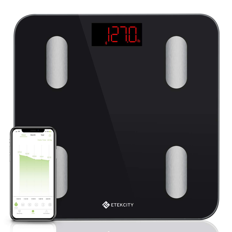 d729f25101c Etekcity Smart Body Fat Scale tracks 13 Key Compositions Analyzer,  6mm-Thick Glass $19.99 - Slickdeals.net