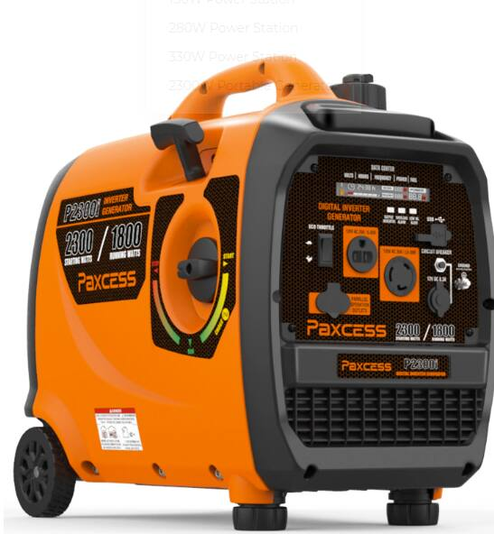 2300W Portable Generator Gasoline With Wheel and Handle $359.99 @paxcess