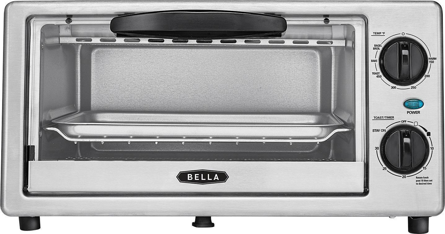 Bella - 4-Slice Toaster Oven - Black/silver $15