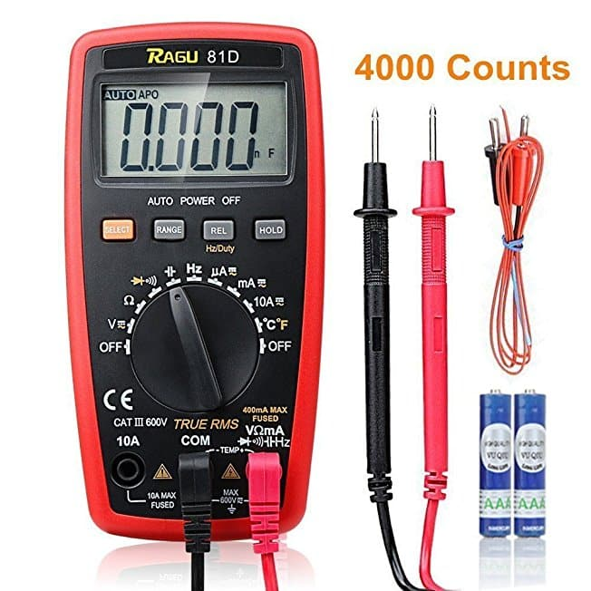 RAGU 81D Auto Ranging Digital Multimeter for $4.99  @amazon