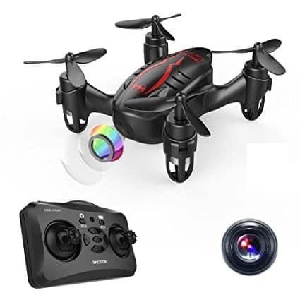 DROCON Hacker Micro Mini Drone, RC Quadcopter with 720P HD Camera, Headless Mode, Easy to Trim, 360 Degree Flip $27.99 @Amazon