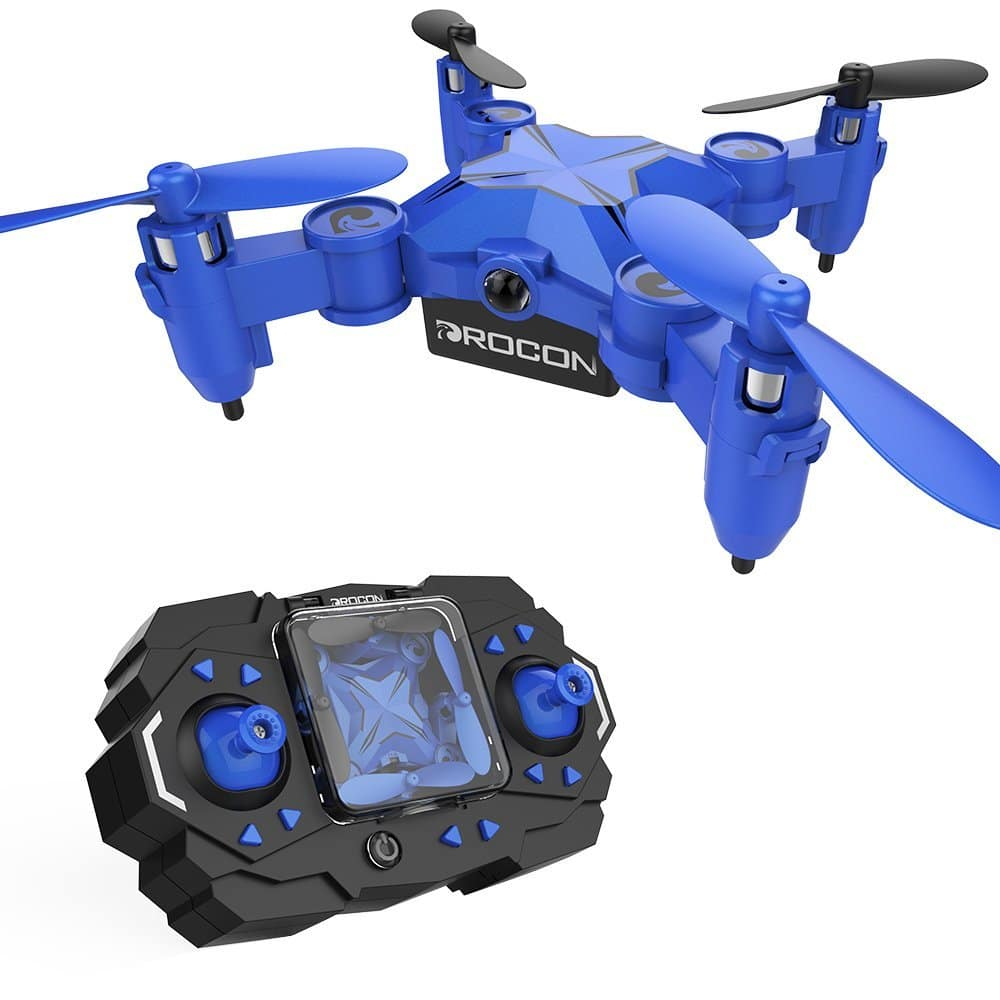 DROCON Scouter Foldable Mini RC drone for kids with Altitude Hold Mode, One Key Take off Landing for $14.99  @Amazon