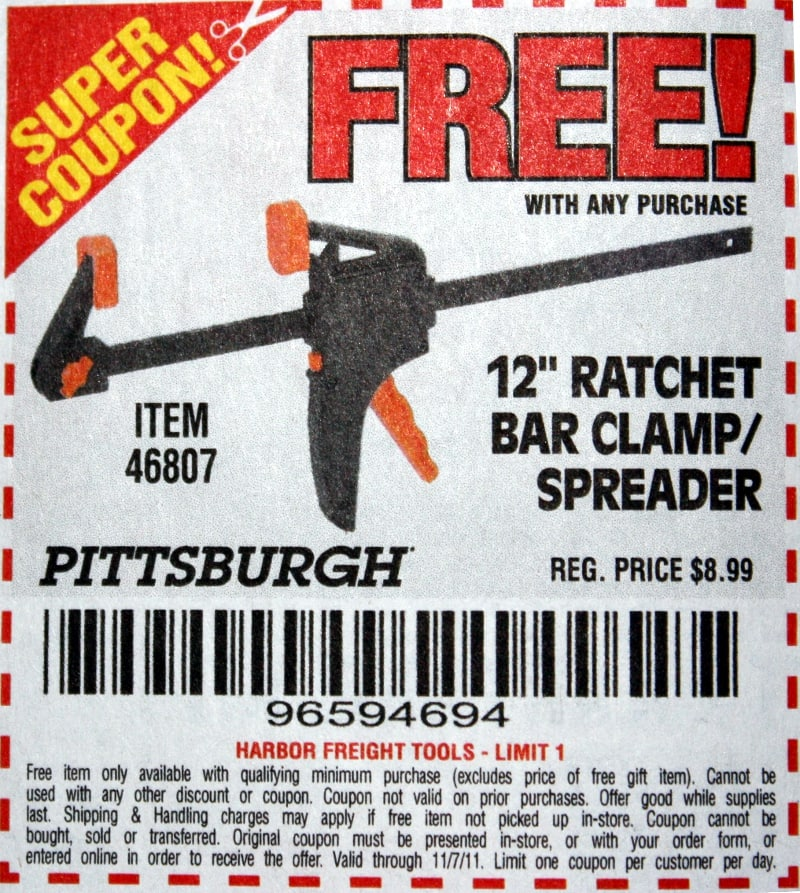 harbor freight coupons clamps