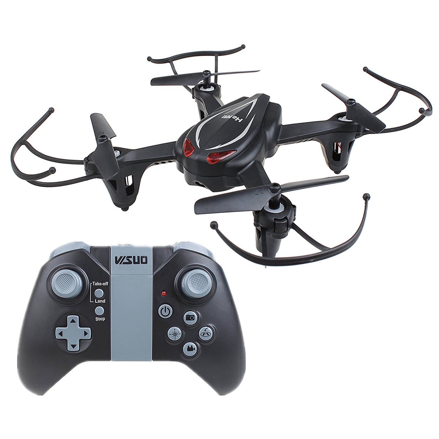HaMi RC Helicopter Drone, Remote Control Helicopter 2.4Ghz 4CH 6-Axis Gyro Headless Quadcopter Drone with Altitude Hold - Black $19.99