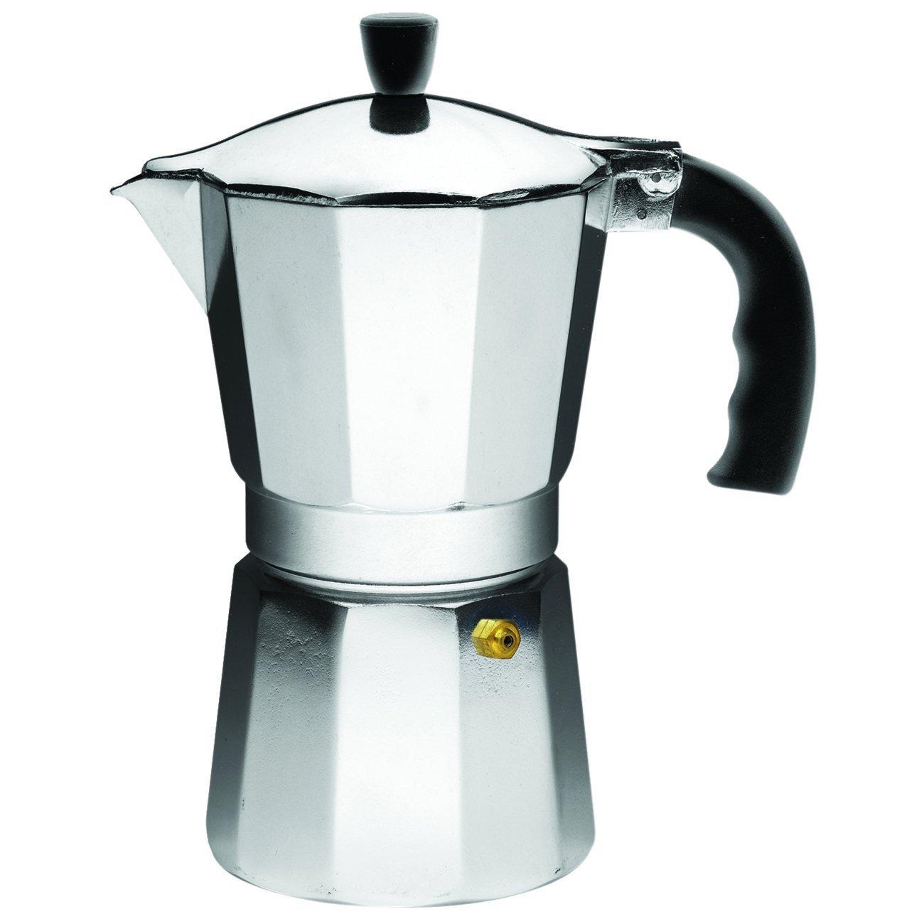 IMUSA Aluminum Espresso Stovetop Coffeemaker 6-cup, Silver [6-Cup] $21.49