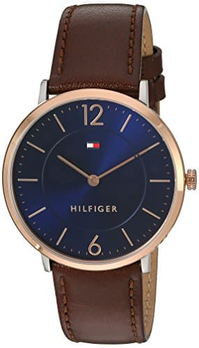 Tommy Hilfiger Men's 'Sophisticated Sport' Quartz Gold and Leather Casual Watch, Color:Brown (Model: 1710354): Watches $78.99 FS@amazon