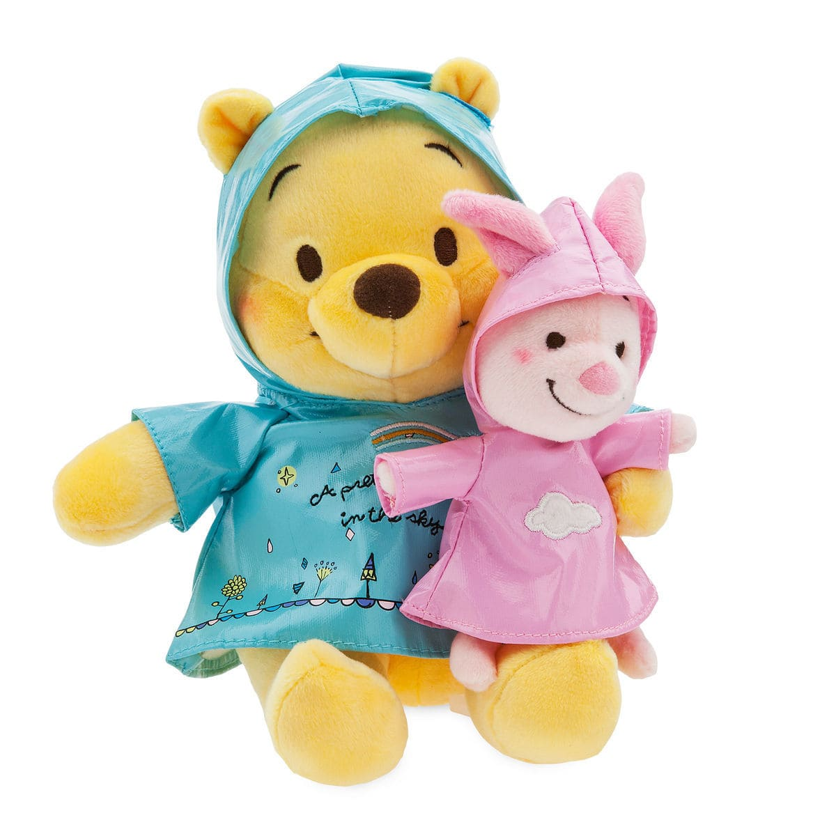 Winnie the Pooh and Piglet Rainy Day Plush Set - Small $11.24