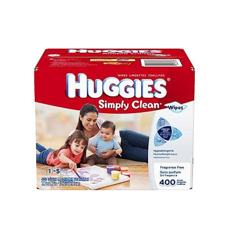 (in store)Huggies Simply Clean® Baby Wipes, Refill, 400ct $6