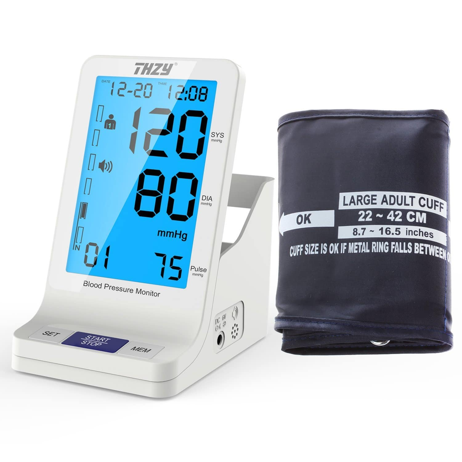 50% OFF AT Amazon on Blood Pressure Monitor with Extra Large Arm Cuff - Automatic Digital FDA Approved Accurate Fast Large Display BP cuff $20
