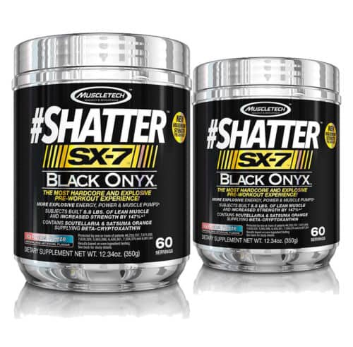 2x MuscleTech #Shatter SX-7 Black Onyx Icy Rocket Freeze Pre-Workout for $35.99 + FREE S/H