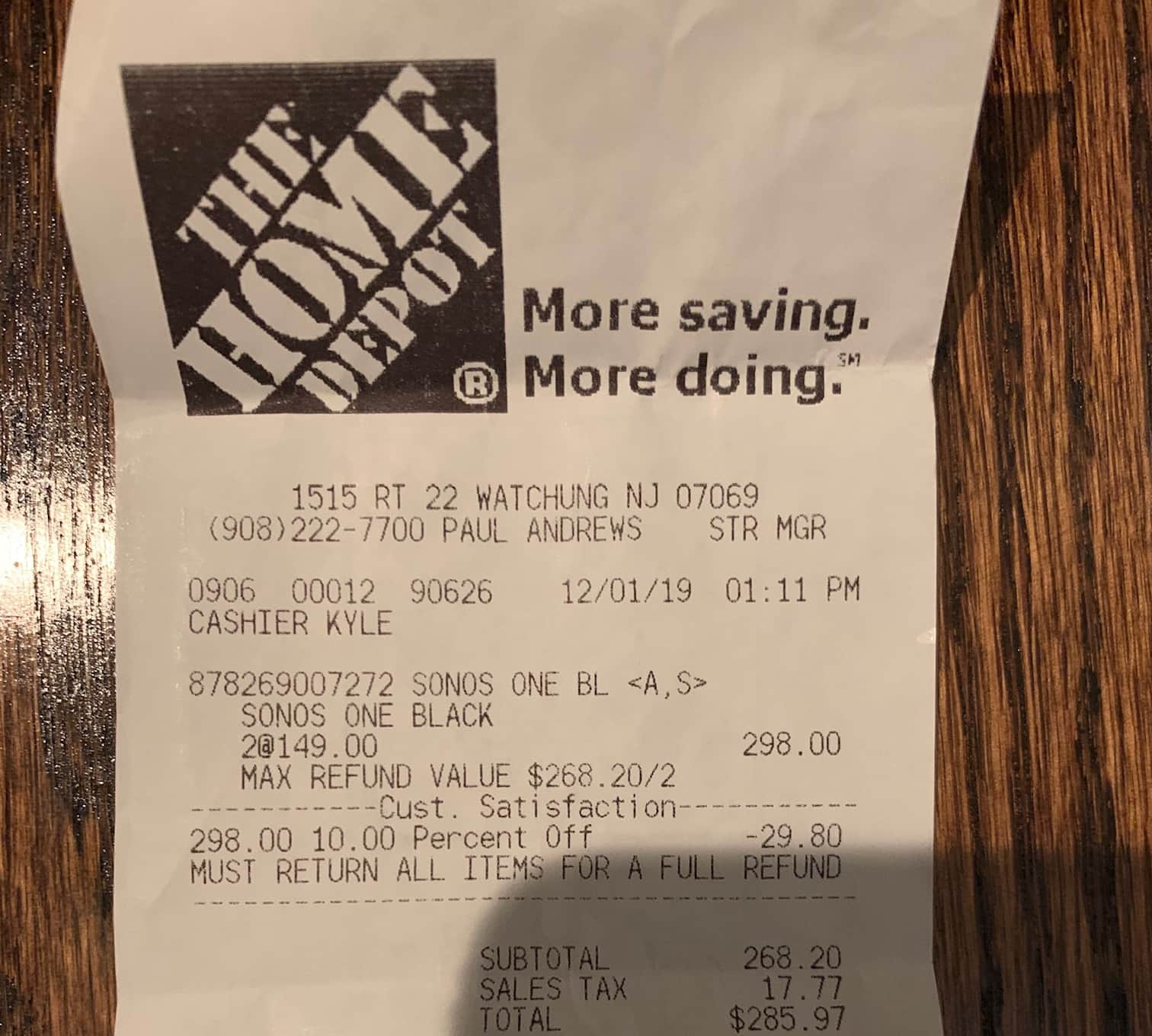 Sonos One Gen 2 - $149 in store only at Home Depot YMMV