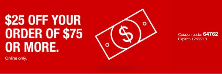 Staples $25 off your order of $75 or more (Online Only - Exclusions may apply - YMMV)