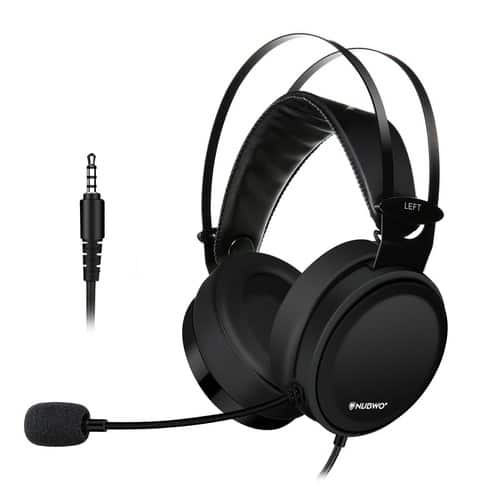 Gaming Headset with Noise-Cancelling Mic Flexible Over-Ear Headset $21.89 @Amazon
