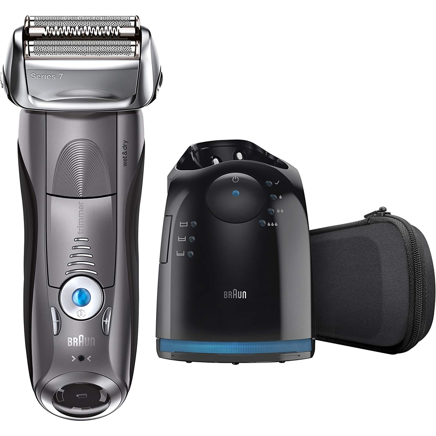Braun Electric Razor for Men, Series 7 7865cc Electric Shaver With Precision Trimmer, Rechargeable, Wet & Dry Foil Shaver, Clean & Charge Station & Travel Case $119.94