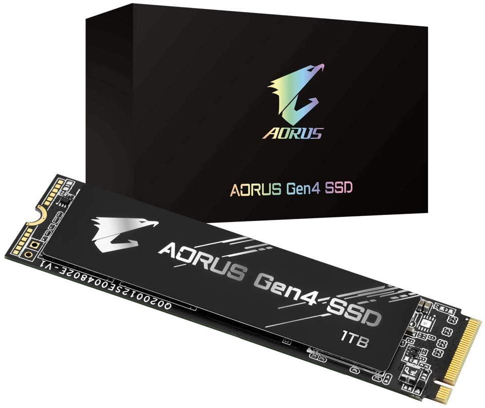 Gigabyte AORUS NVMe Gen4 M.2 1TB PCI-Express 4.0 Interface High Performance Gaming, 3D TLC NAND, External DDR Cache Buffer, SSD GP-AG41TB $159.98
