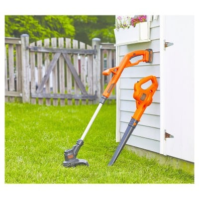 "BLACK+DECKER 20V Lithium 10"" String Trimmer/Sweeper Combo LCC221 - Orange $60.99"