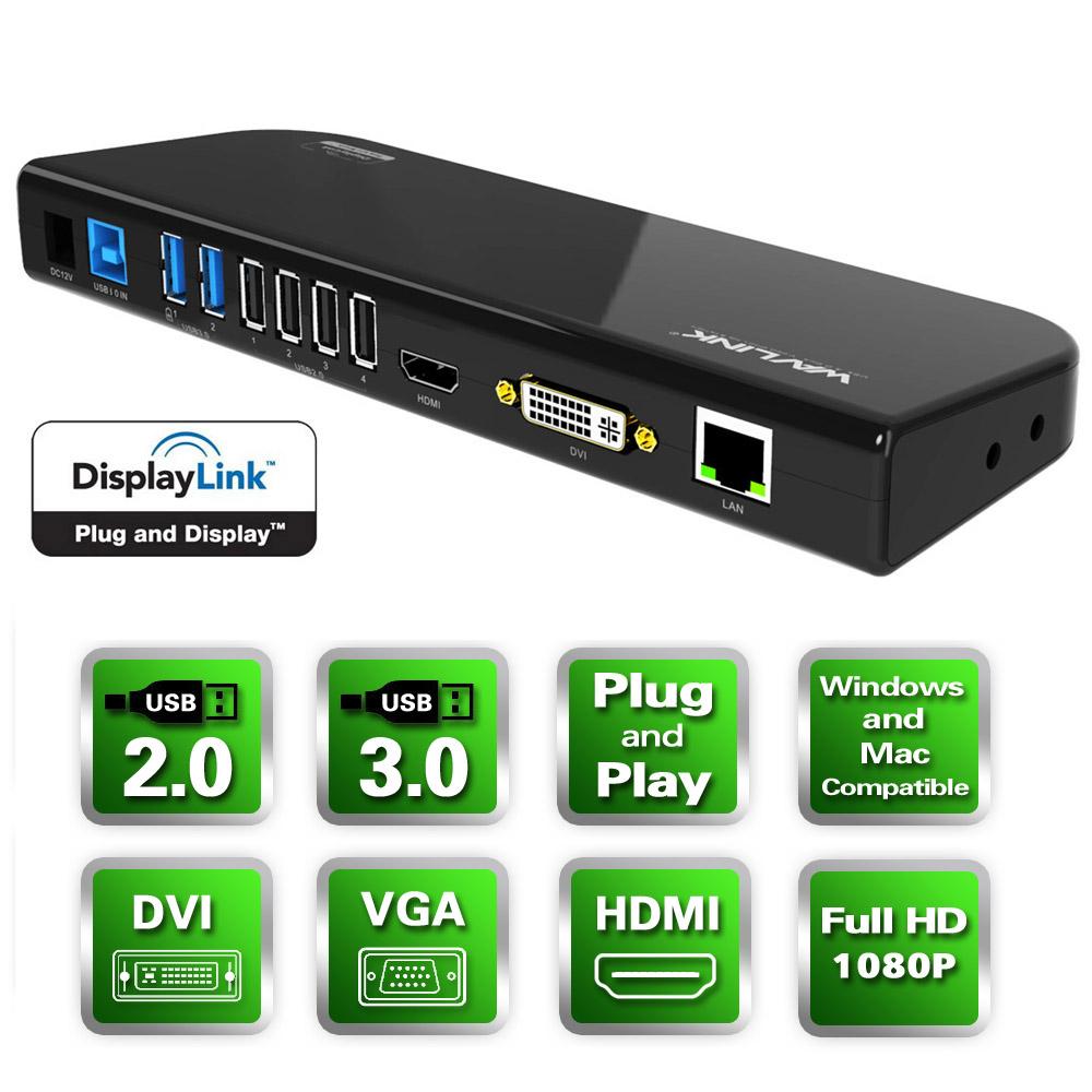 Wavlink USB 3.0 Universal Docking Station+ walmart $68