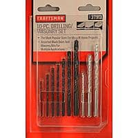 Kmart Deal: Craftsman Craftsman 10 pc Drilling/Masonry Bit Set for $4.49 with $4.04 back in points