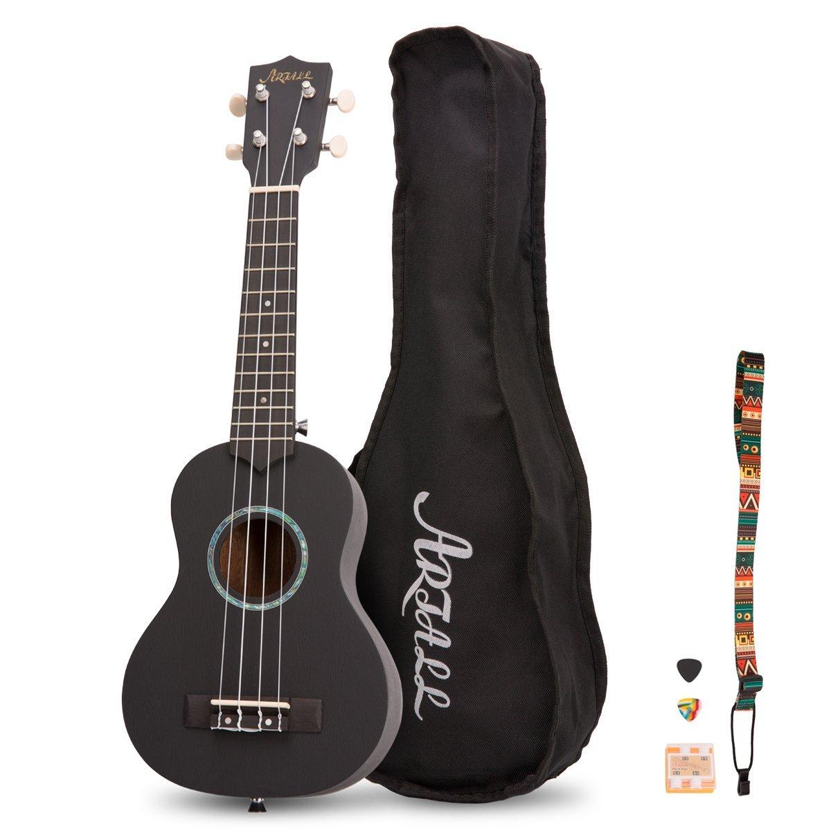Wood Soprano Ukulele Sapele Guitar 21 inch with Accessories  $24.14 AC