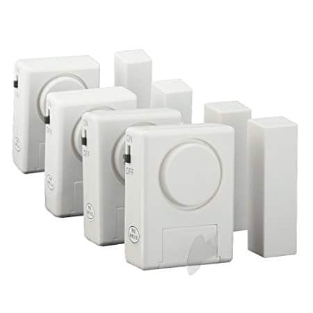 Home Security Magnetically Triggered Window/Door Alarm Kit 4-Pack $11.69 + FS via Prime