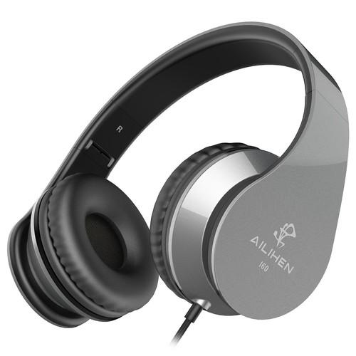 Foldable On Ear Headphones with Mic $6.99 AC + FS via Prime