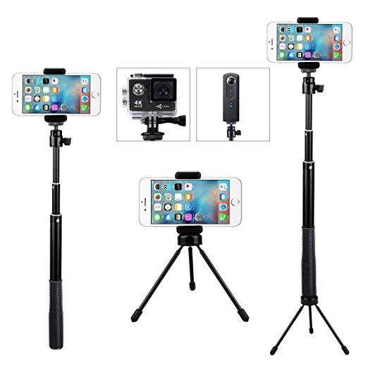 Telescoping Selfie Stick with Mini Tripod  2in1 $9.99 AC + FS (Prime)