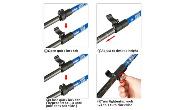 Trekking Poles - Collapsible, Lightweight, Shock-Absorbent, Carbon Fiber Hiking, $35.99 with Free Shipping