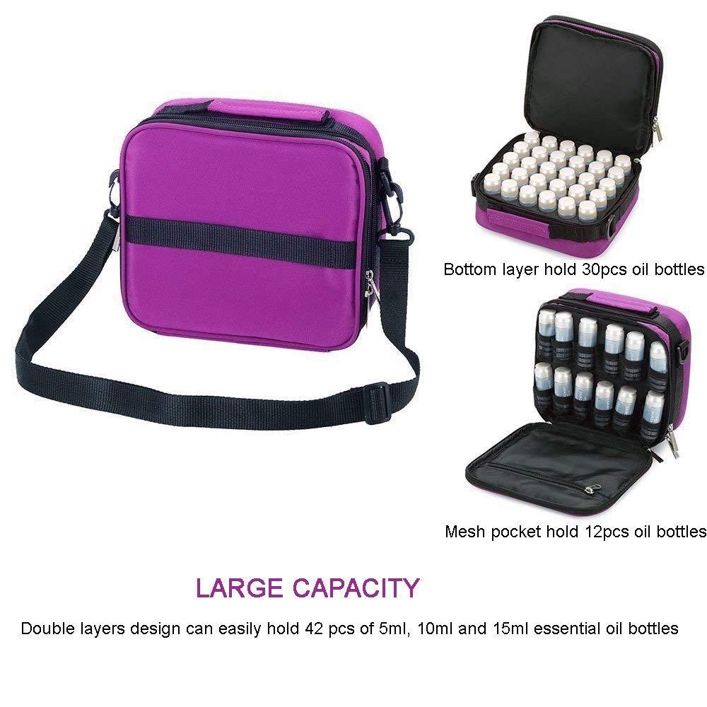 42-Bottle Essential Oils Organizer Travel Shockproof Carrying Case $9.80 AC + FS (Prime)