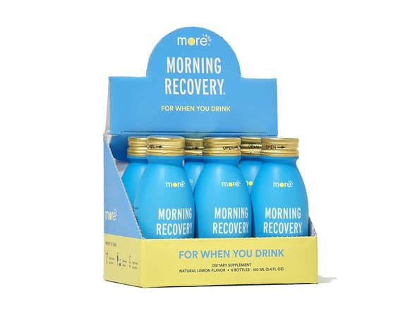 Morning Recovery: Patent-Pending Liver Protection, Lemon Hydration 3.4oz Shot Pack of 6 $19.99