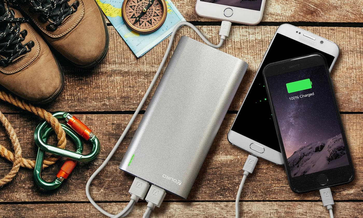 Aduro Extreme Boost 20,000mAh Portable Backup Battery with 4 USB Ports $21.99