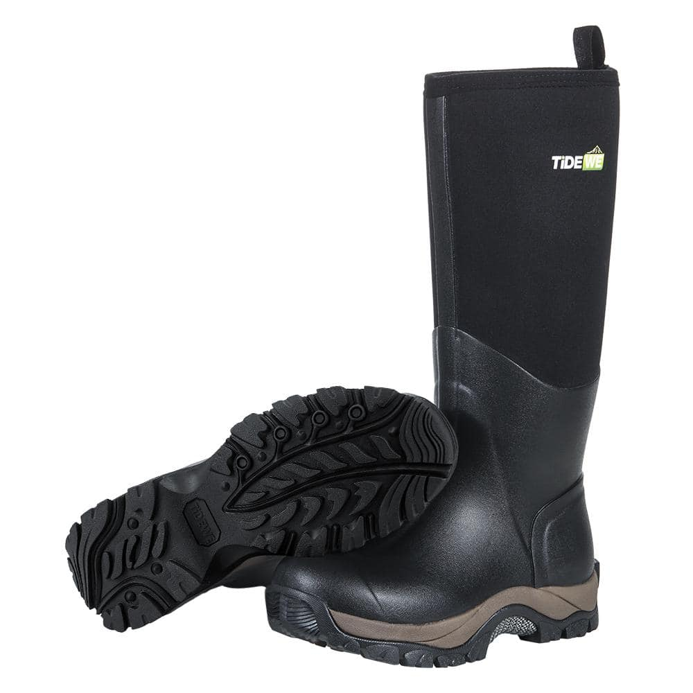 Black Neoprene Rubber Boot only $48.99 @TideWe+ Free shipping