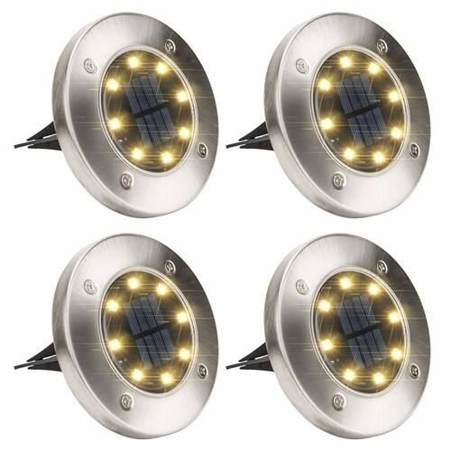 4 Pack GIGALUMI Solar Ground Lights $11.99