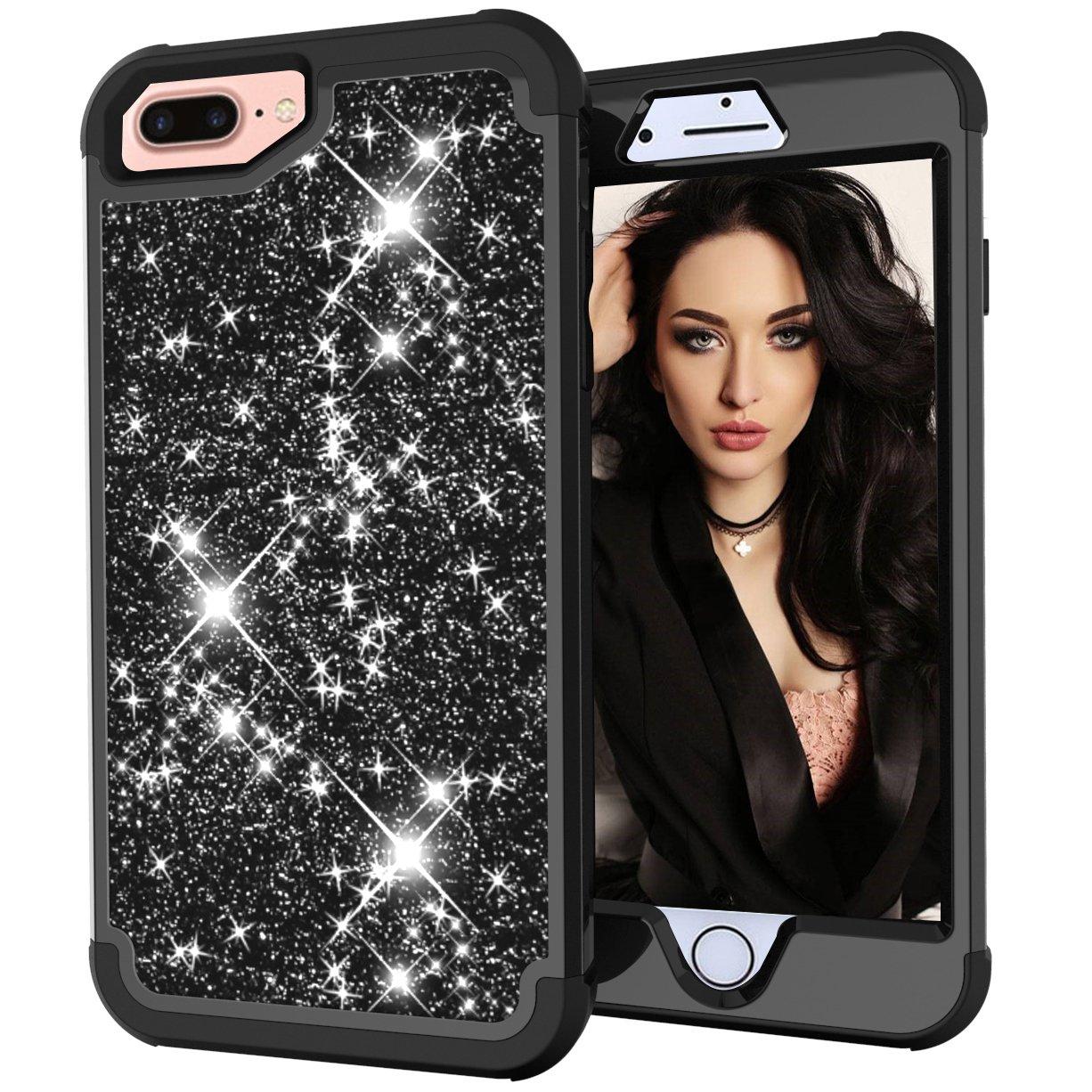 IPhone 7 Plus/8 Plus Case,Heavy Duty Slim Sparkle Bling Glitter Case 3 in 1 $5.2