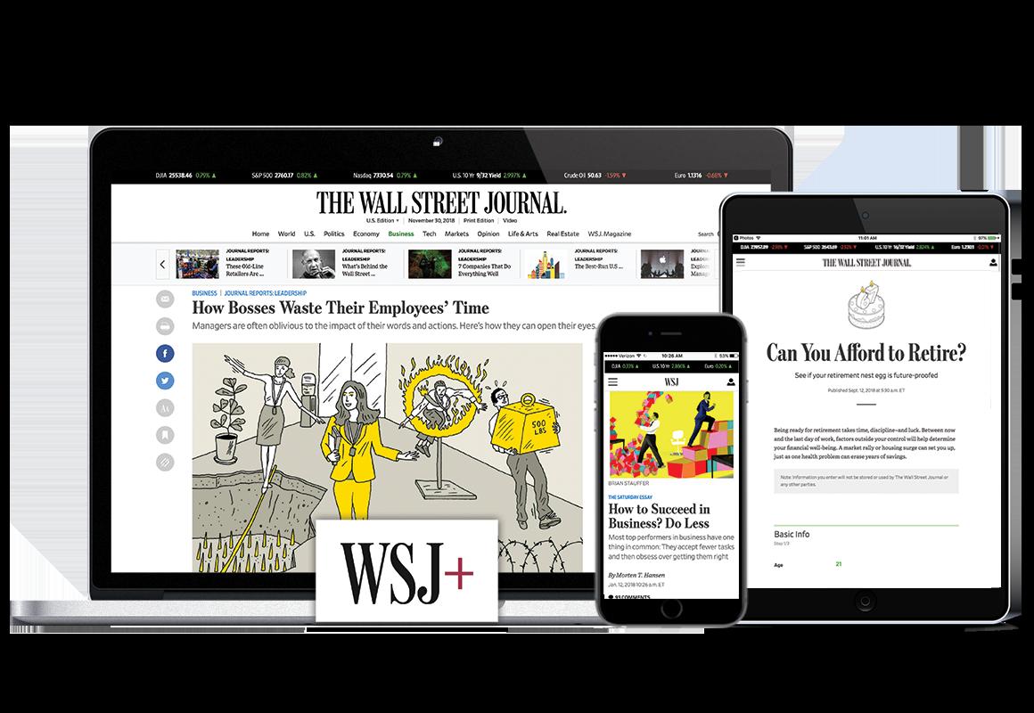 Wall Street Journal WSJ Online $1 for 2 months