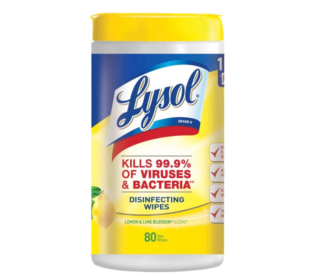 80-Count Lysol Disinfecting Wipes (Lemon & Lime Blossom), Back in stock, Prime Only