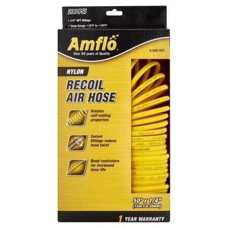 Amflo Nylon Recoil Air Compressor Hose 50ft $3